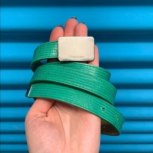 Burberry Green Lizard Belt
